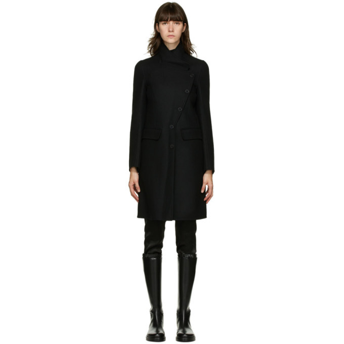 Photo: Ann Demeulemeester Black Wool and Cashmere Coat