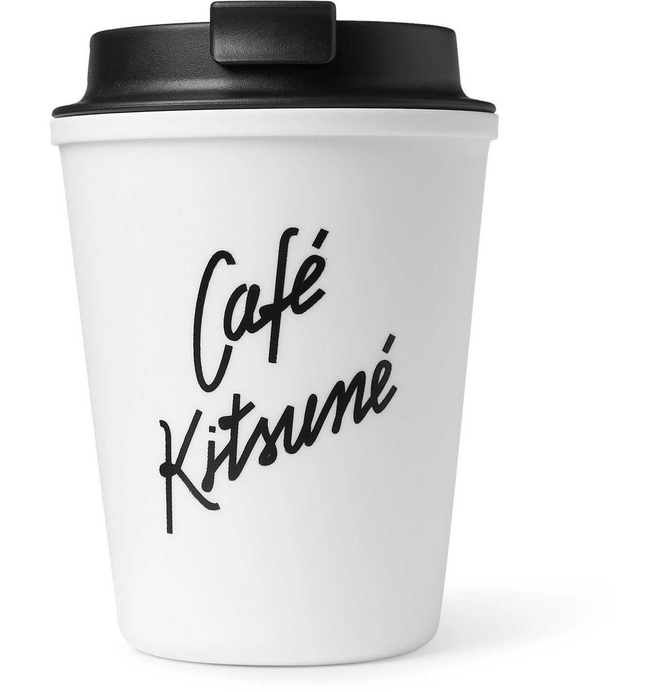 Photo: Café Kitsuné - Logo-Print Travel Cup - White