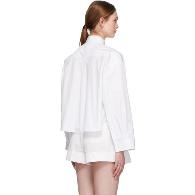 Valentino White Oversized Cropped Shirt