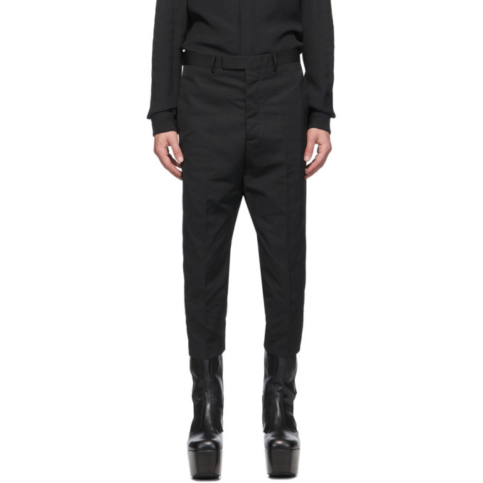 Photo: Rick Owens Black Cropped Astaires Trousers
