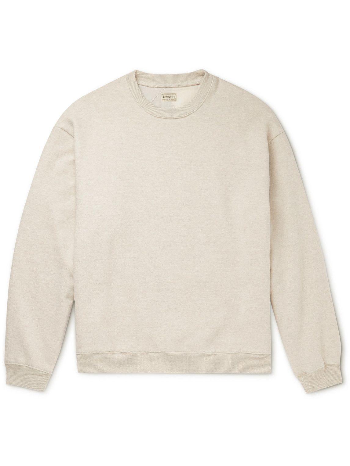 Photo: KAPITAL - Patchwork Cotton-Jersey Sweatshirt - Neutrals