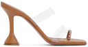 Amina Muaddi Beige Sami Heeled Sandals