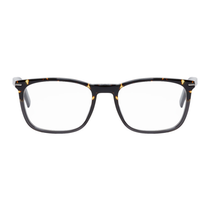 Photo: Dior Homme Tortoiseshell and Grey BlackTie265 Optical Glasses