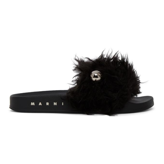 Photo: Marni Black Furry Slides