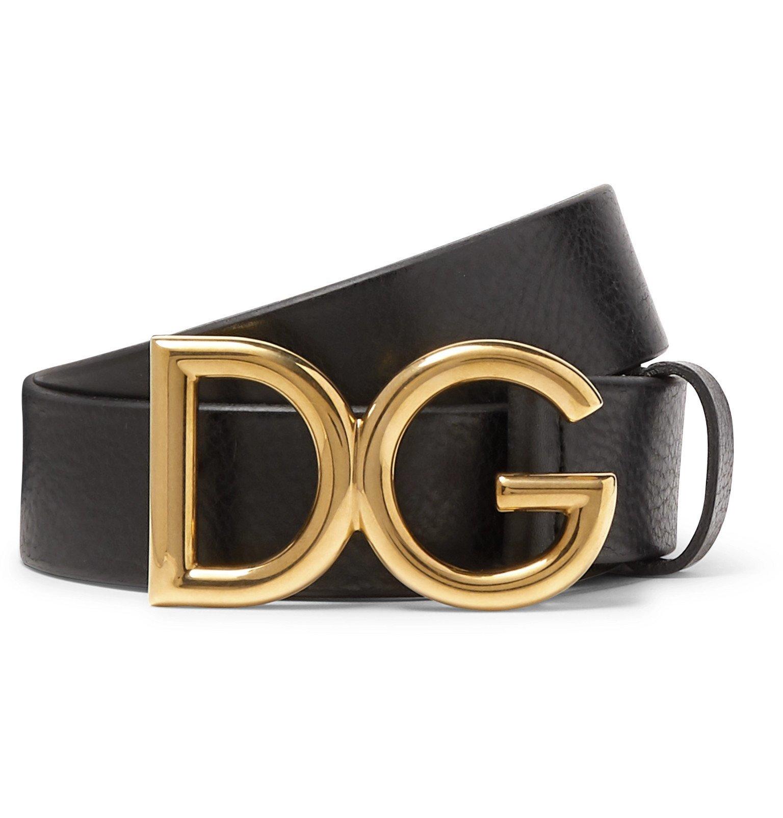 Photo: Dolce & Gabbana - 3.5cm Black Full-Grain Leather Belt - Black