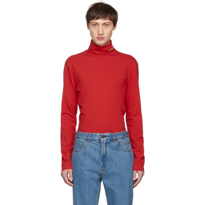 Photo: Calvin Klein 205W39NYC Red Classic Turtleneck