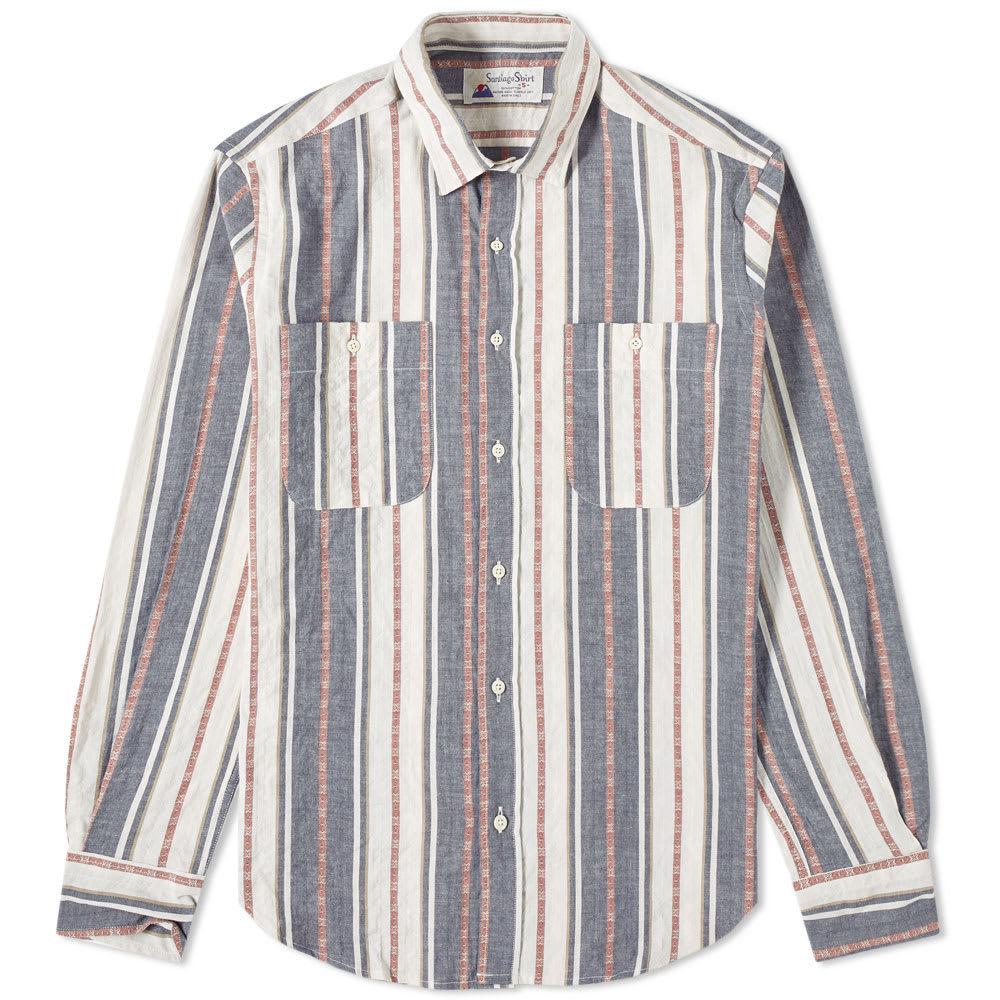 Photo: Santiago Shirt by Gitman Vintage Jacquard Stripe Shirt White & Brick