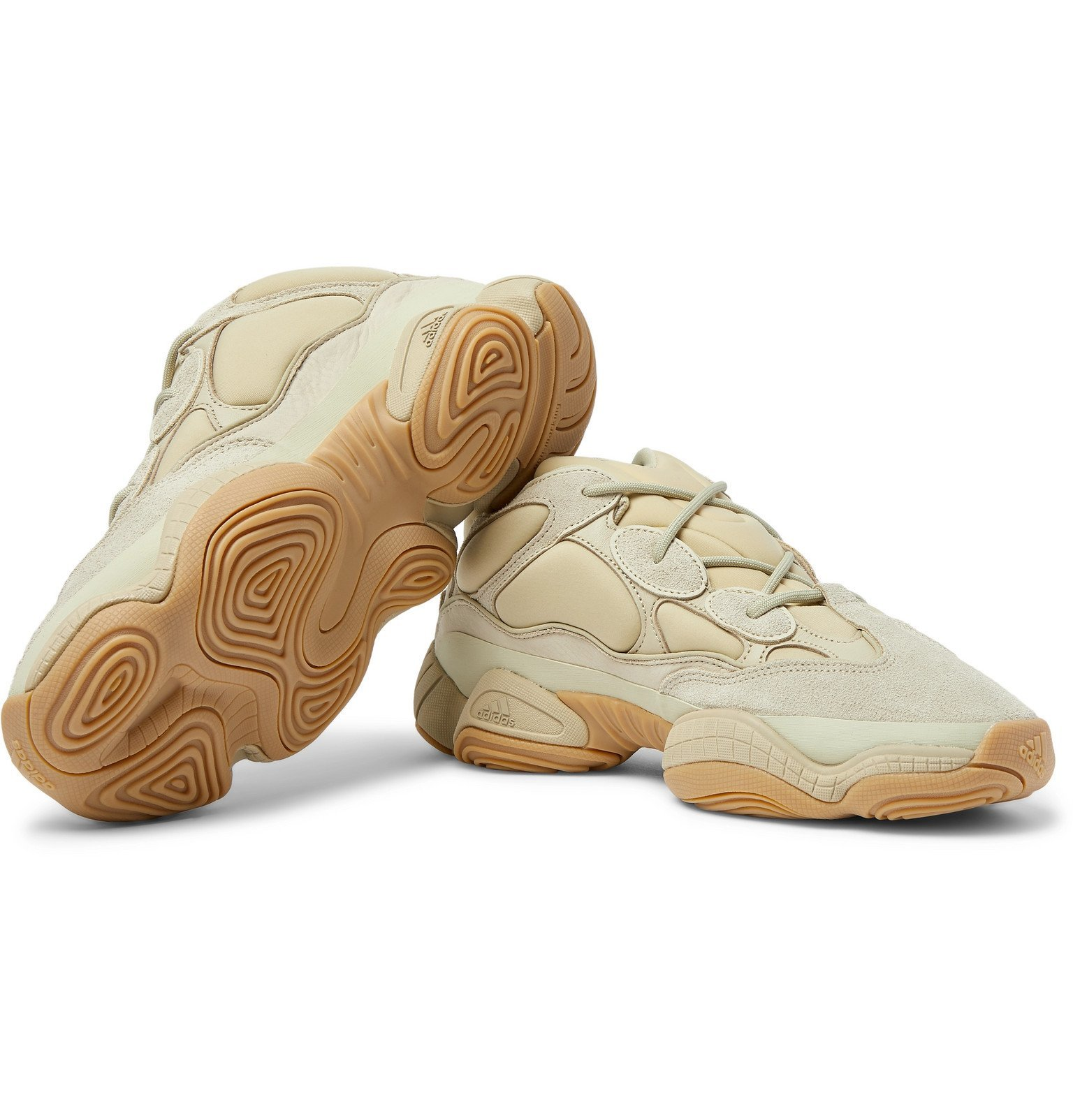 adidas Originals - Yeezy 500 Neoprene, Suede and Leather Sneakers - Unknown