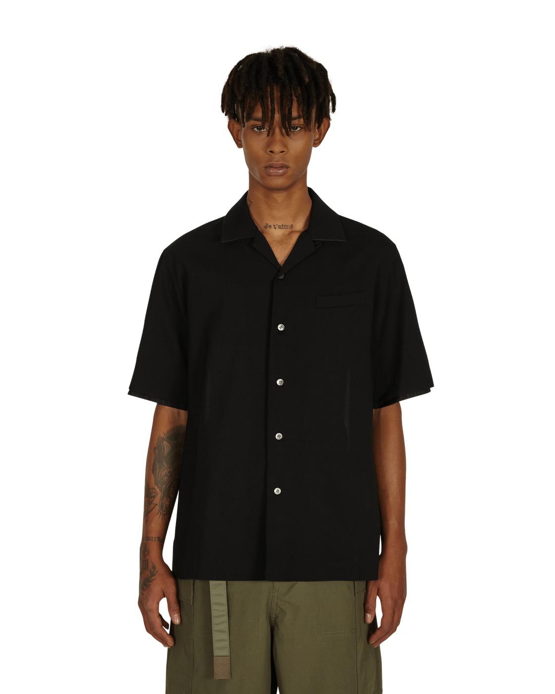 Sacai Suiting Shirt Black