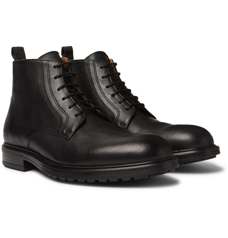 Photo: Officine Generale - Full-Grain Leather Boots - Black