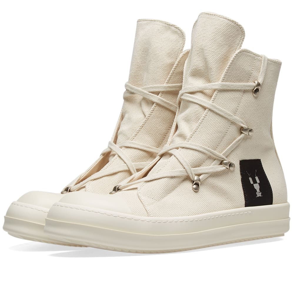 Photo: Rick Owens DRKSHDW Canvas Criss Cross Laced High Top Sneaker