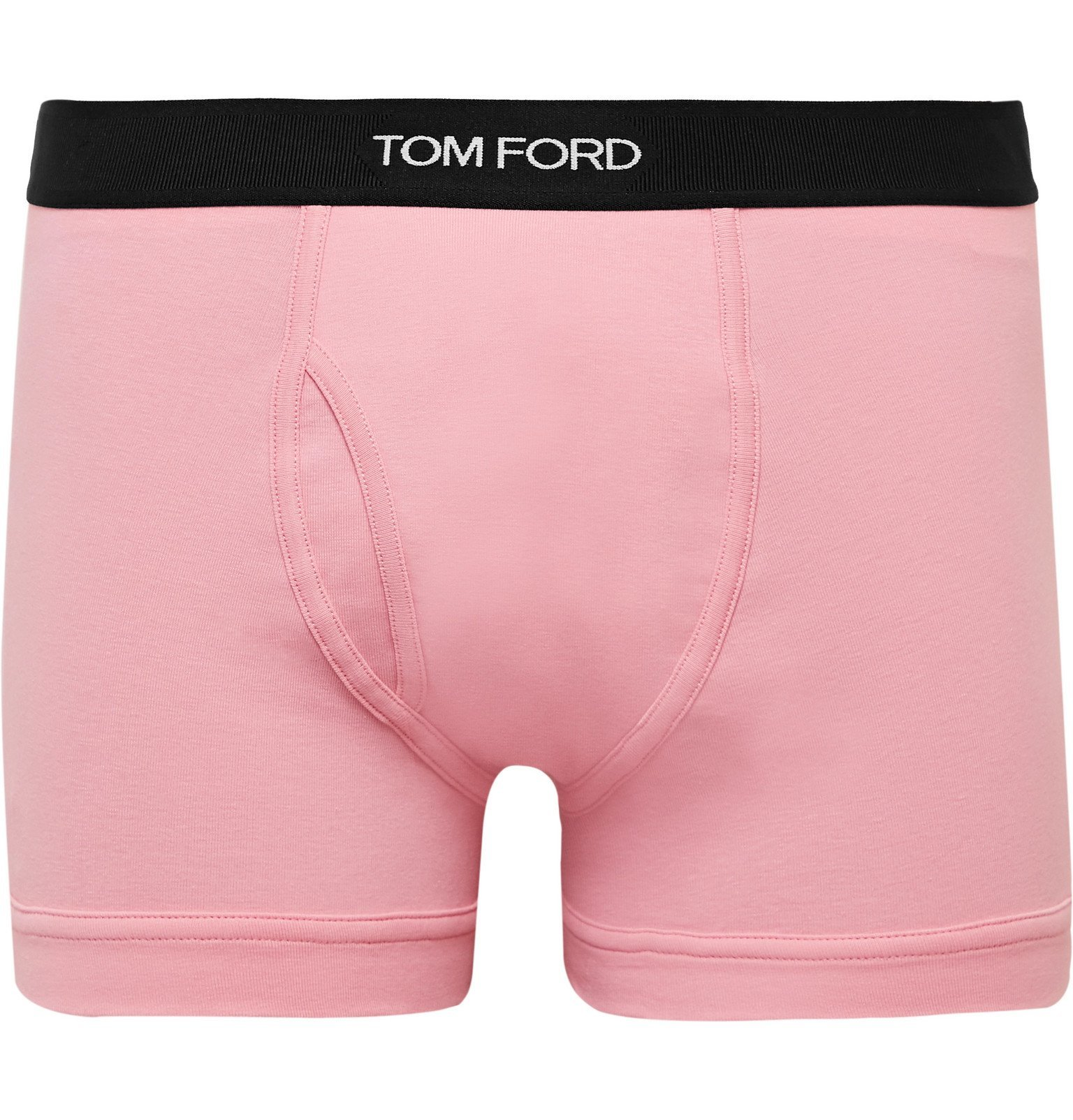 Photo: TOM FORD - Stretch-Cotton Boxer Briefs - Pink