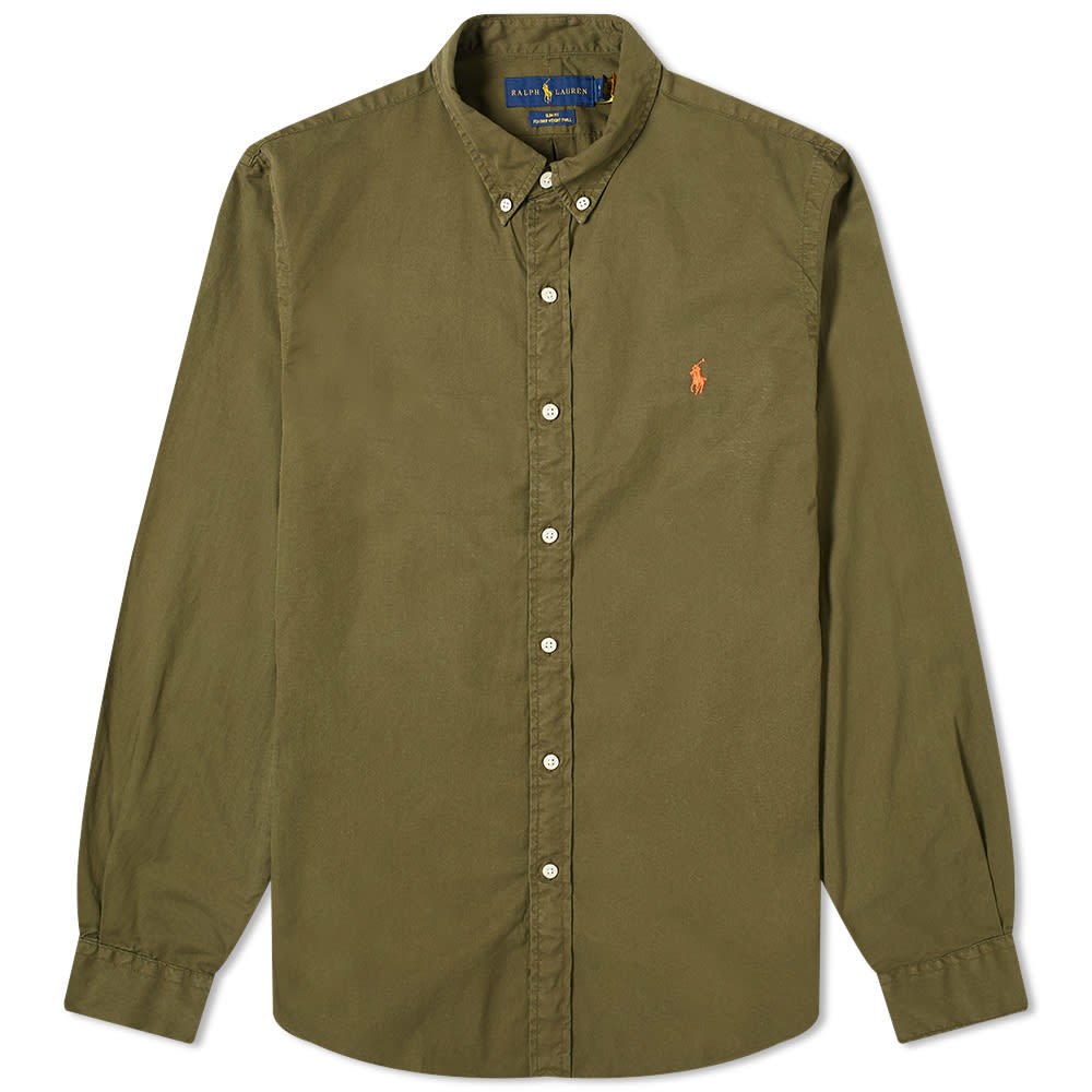 Photo: Polo Ralph Lauren Button Down Garment Dyed Chino Shirt