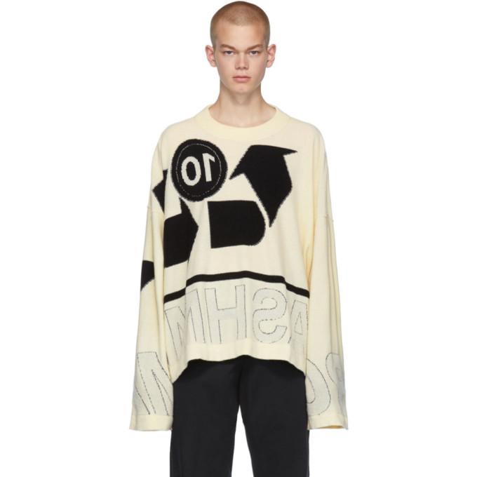 Photo: Maison Margiela Off-White Inlay Gauge 12 Sweater