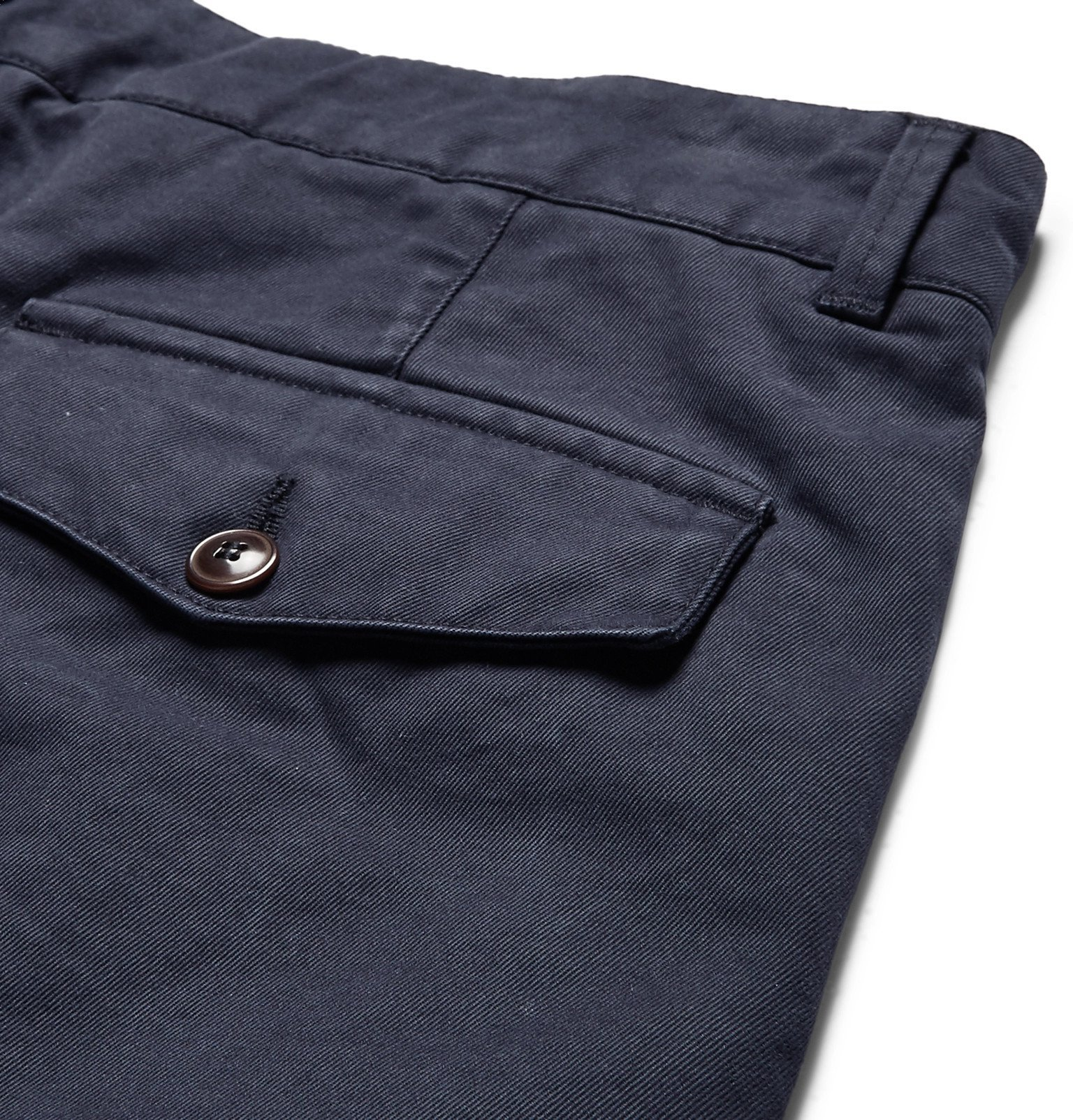Officine Generale - Fisherman Cotton-Twill Shorts - Blue