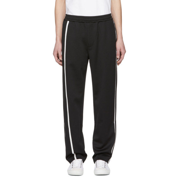Photo: Helmut Lang Black and White Sport Striped Track Pants