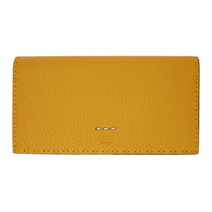 Photo: Fendi Yellow Selleria Continental Wallet