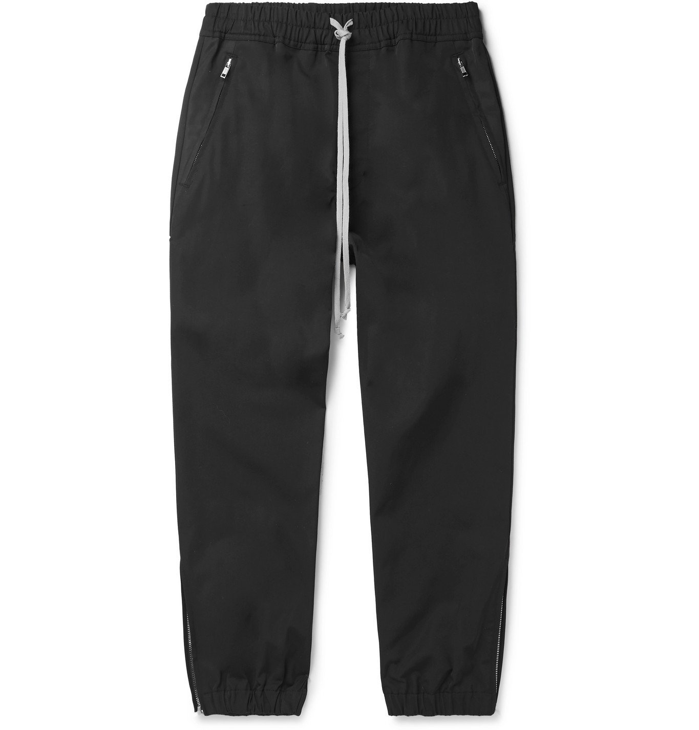 Photo: Rick Owens - Tapered Twill Drawstring Trousers - Black