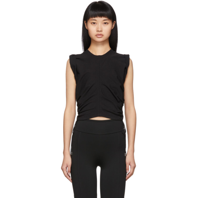 Photo: alexanderwang.t Black Wash and Go Side Tie Crop Top