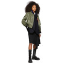 Sacai Black Denim Asymmetric Skirt