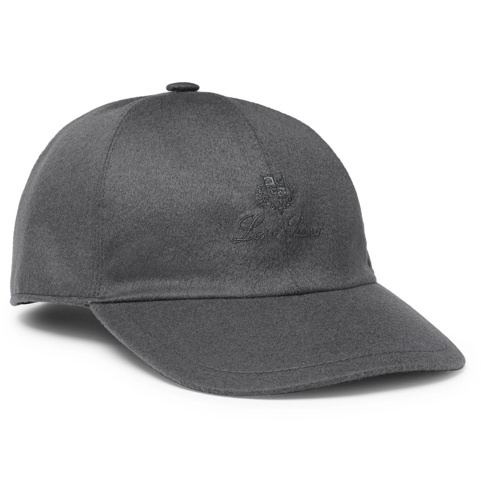 Photo: Loro Piana - Logo-Embroidered Storm System Baby Cashmere Baseball Cap - Gray