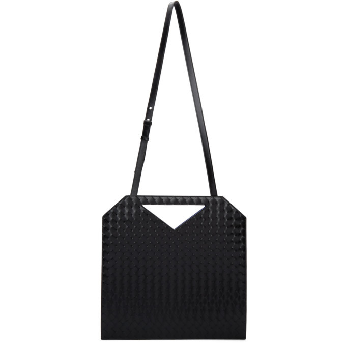 Bottega Veneta Black Intrecciato North-South Tote