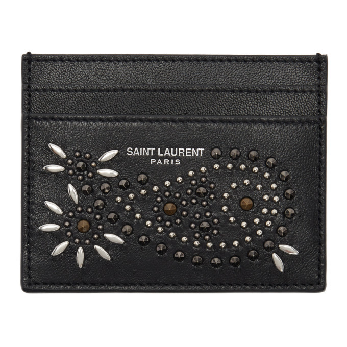 Photo: Saint Laurent Black Douglas Card Holder