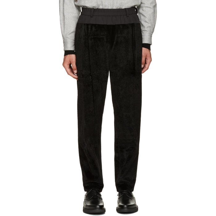 Photo: Toga Virilis Black Faux-Fur Lounge Pants