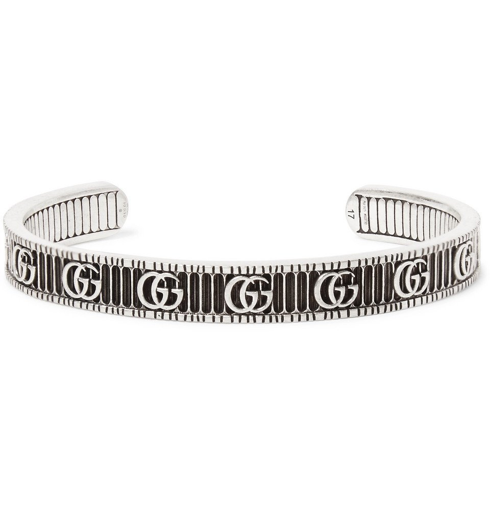 Photo: Gucci - Logo-Embossed Sterling Silver Cuff - Silver