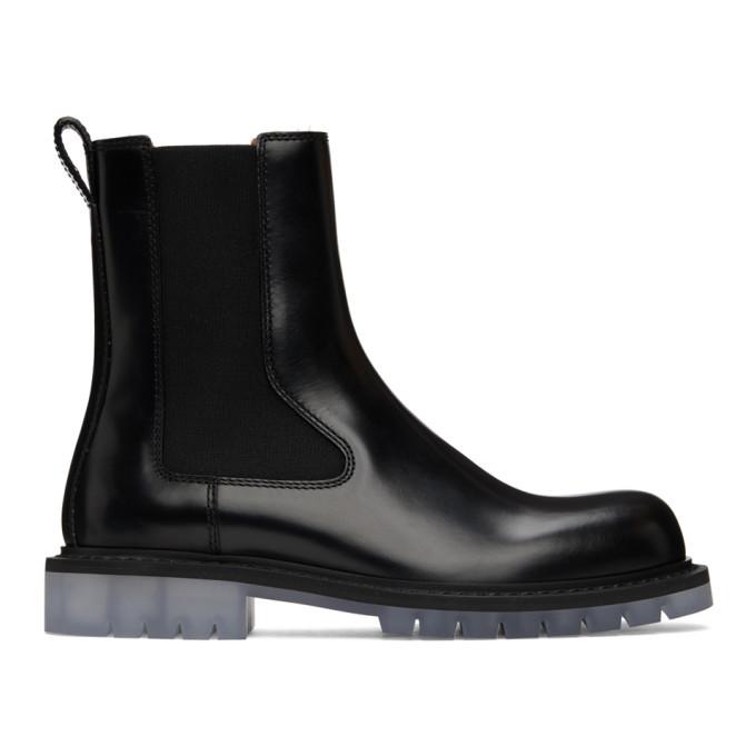 Photo: Bottega Veneta Black Level Chelsea Boots