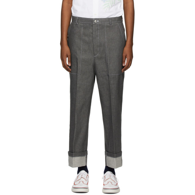 Thom Browne Grey Patch Pocket Jeans