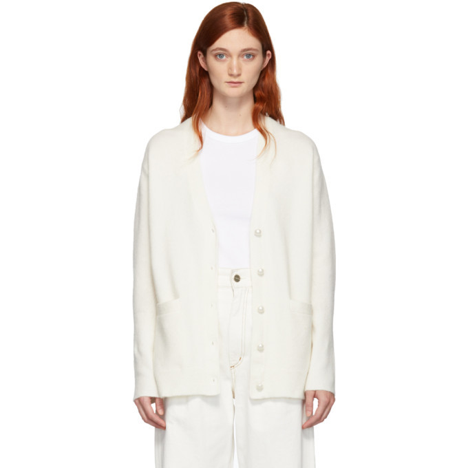 3.1 Phillip Lim SSENSE Exclusive White Pearls Cardigan