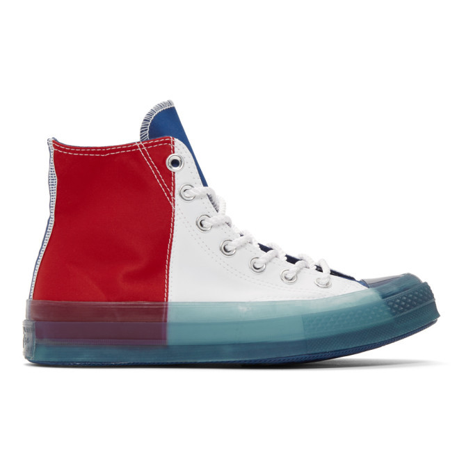 Photo: Converse Multicolor Transparent Sole Chuck 70 High Sneakers