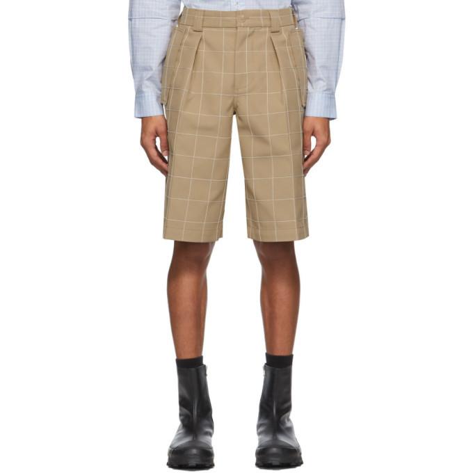Photo: Jacquemus Beige Le Short Quadri Shorts
