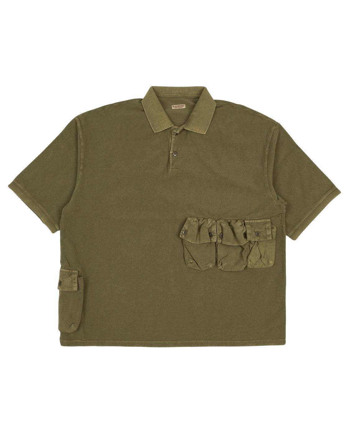 Kapital Polo T Shirt Khaki