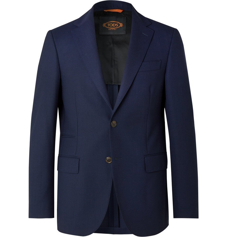Tod's - Navy Slim-Fit Wool Blazer - Navy