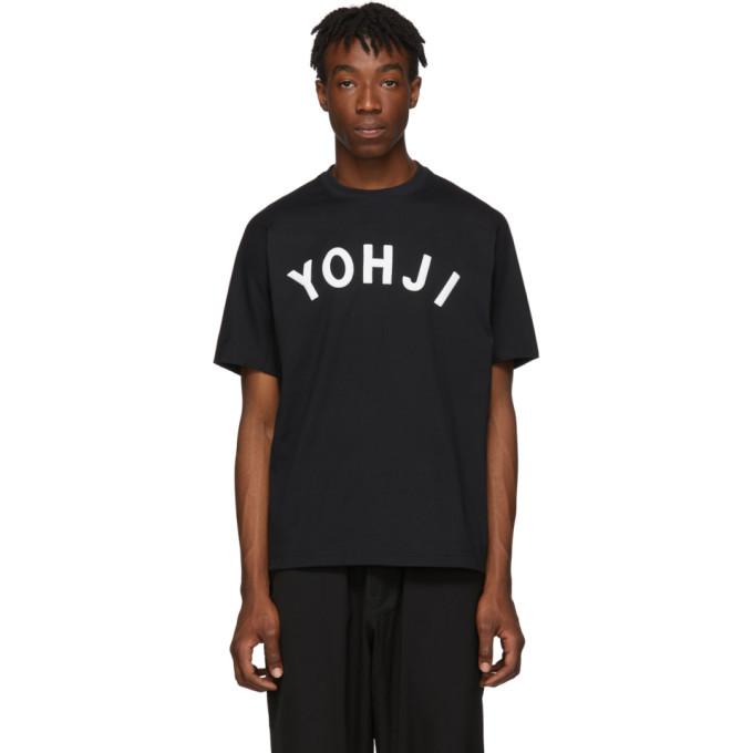 Y-3 Black Yohji Letters T-Shirt