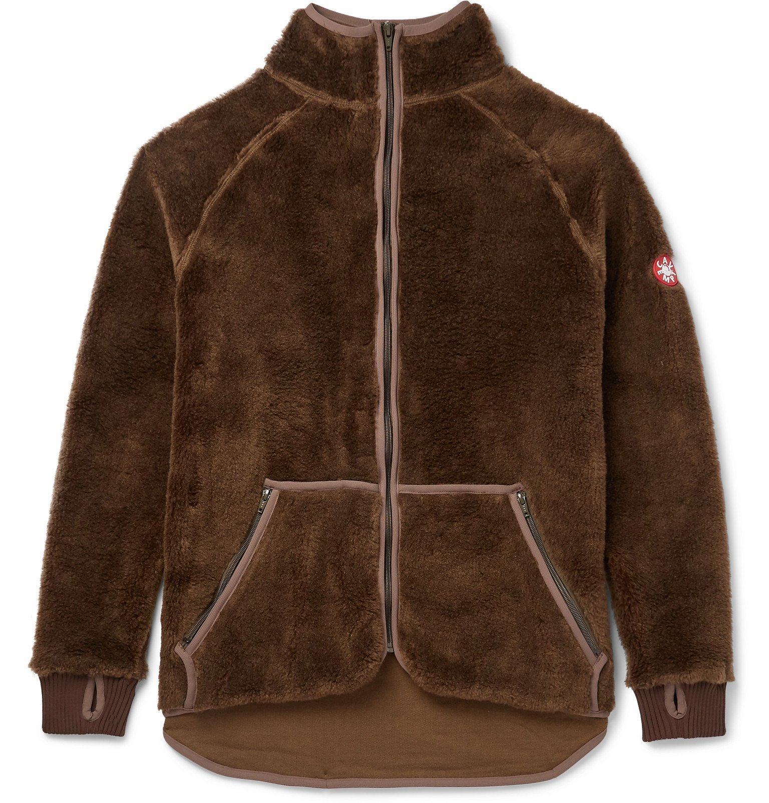 Photo: Cav Empt - Logo-Appliquéd Fleece Jacket - Brown