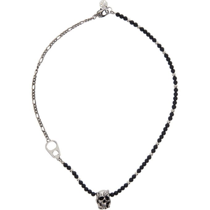 Photo: Alexander McQueen Multicolor Beads and Skull Short Necklace