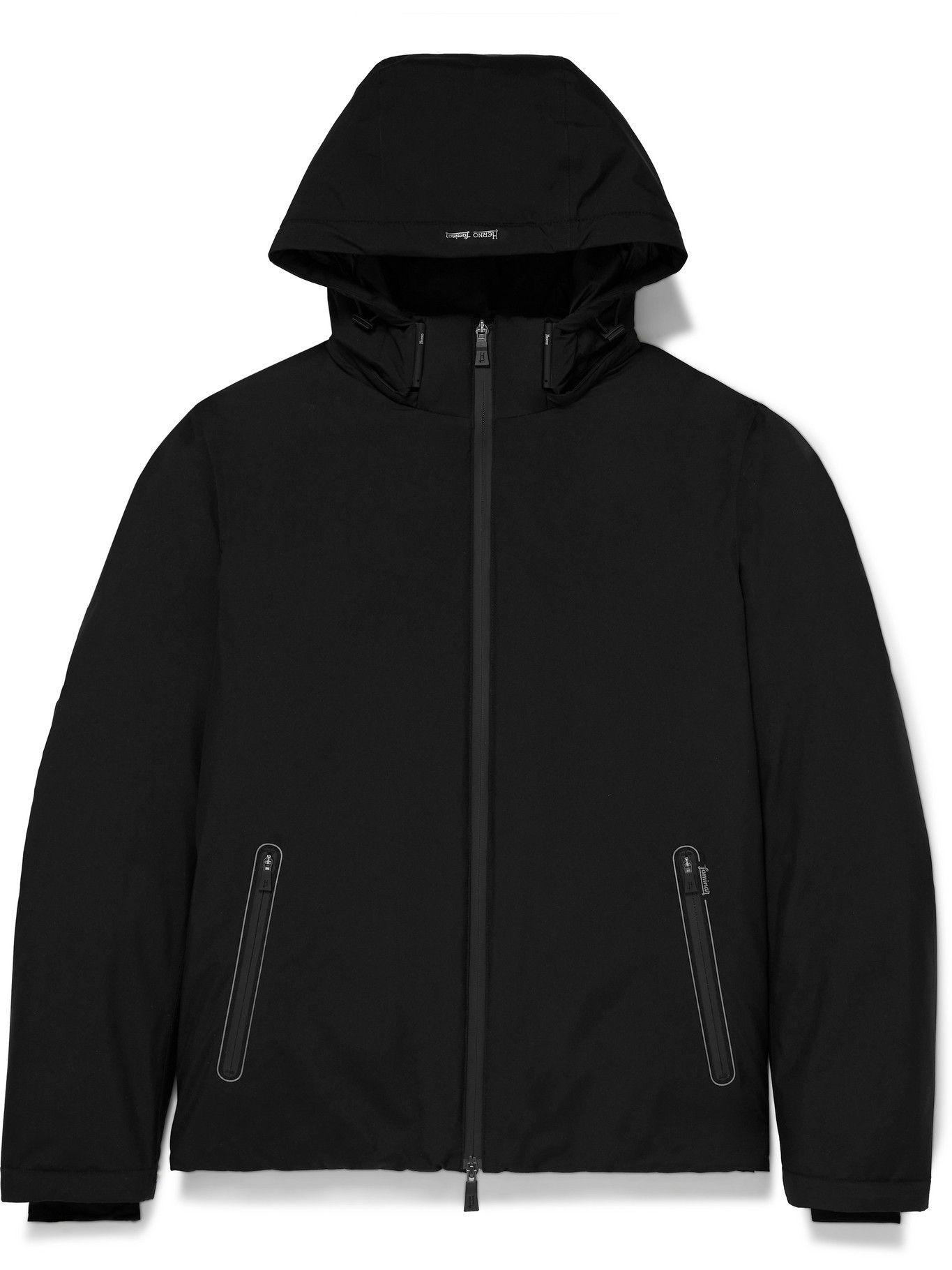 Photo: Herno Laminar - GORE-TEX Hooded Down Jacket - Black