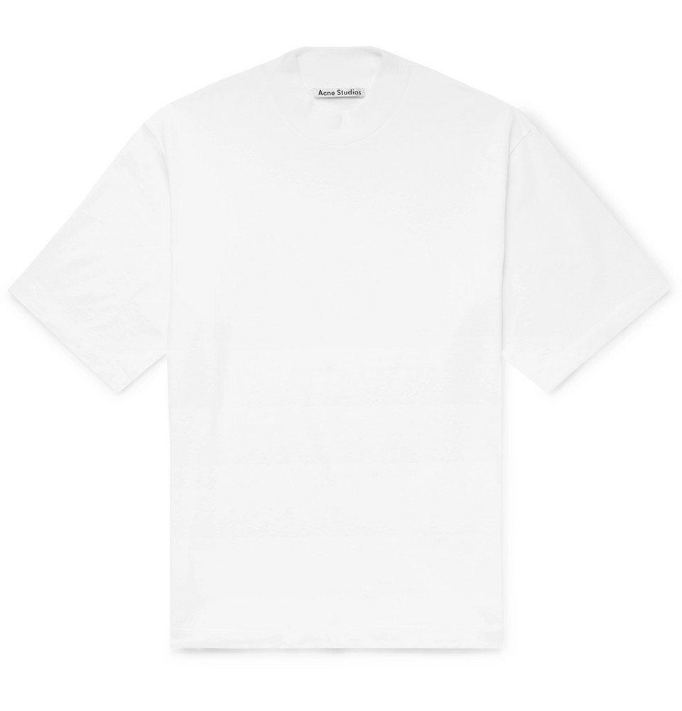 Acne Studios - Eagan Cotton-Jersey Mock-Neck T-Shirt - White