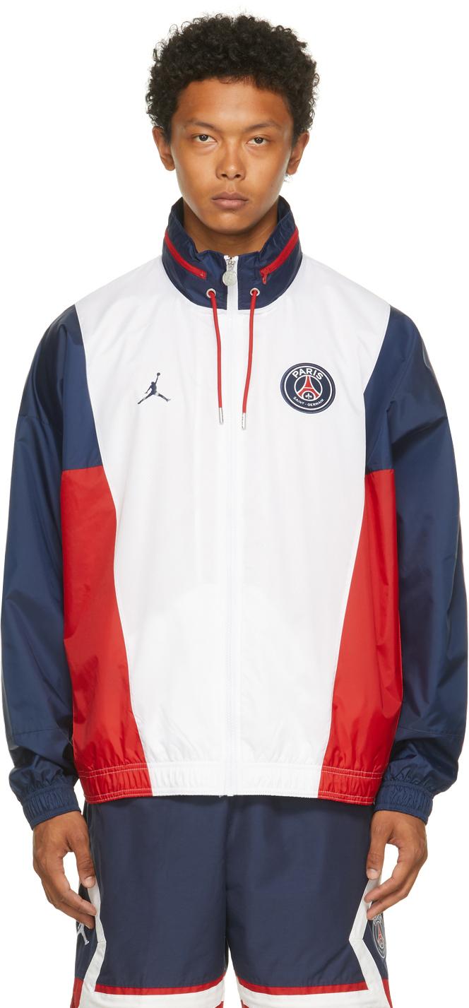 Photo: Nike Jordan White Paris Saint-Germain Edition Paneled Jacket