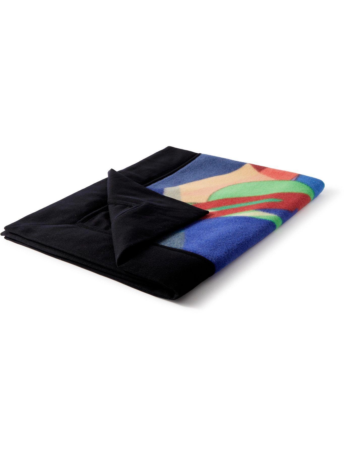 Sacai - KAWS Wool-Blend Jacquard Throw