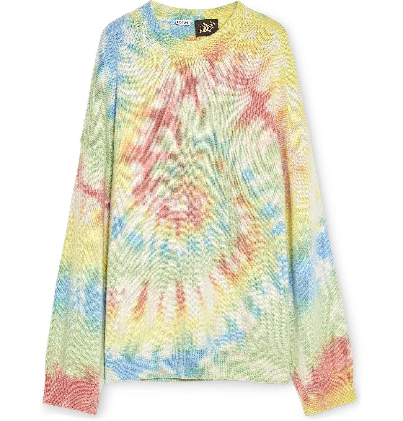 Photo: Loewe - Paula's Ibiza Tie-Dyed Cashmere Sweater - Multi
