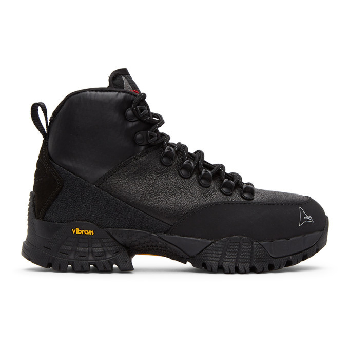 Photo: ROA Black Spitfire Andreas Lace-Up Boots