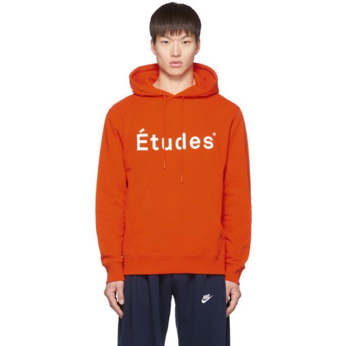 Photo: Etudes Orange Logo Klein Hoodie