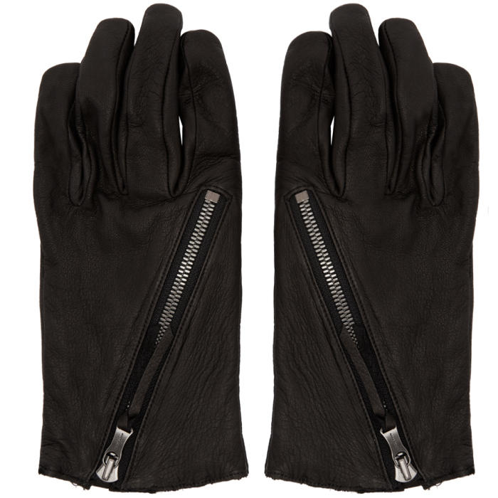 Photo: The Viridi-anne Black Diagonal Zipper Gloves