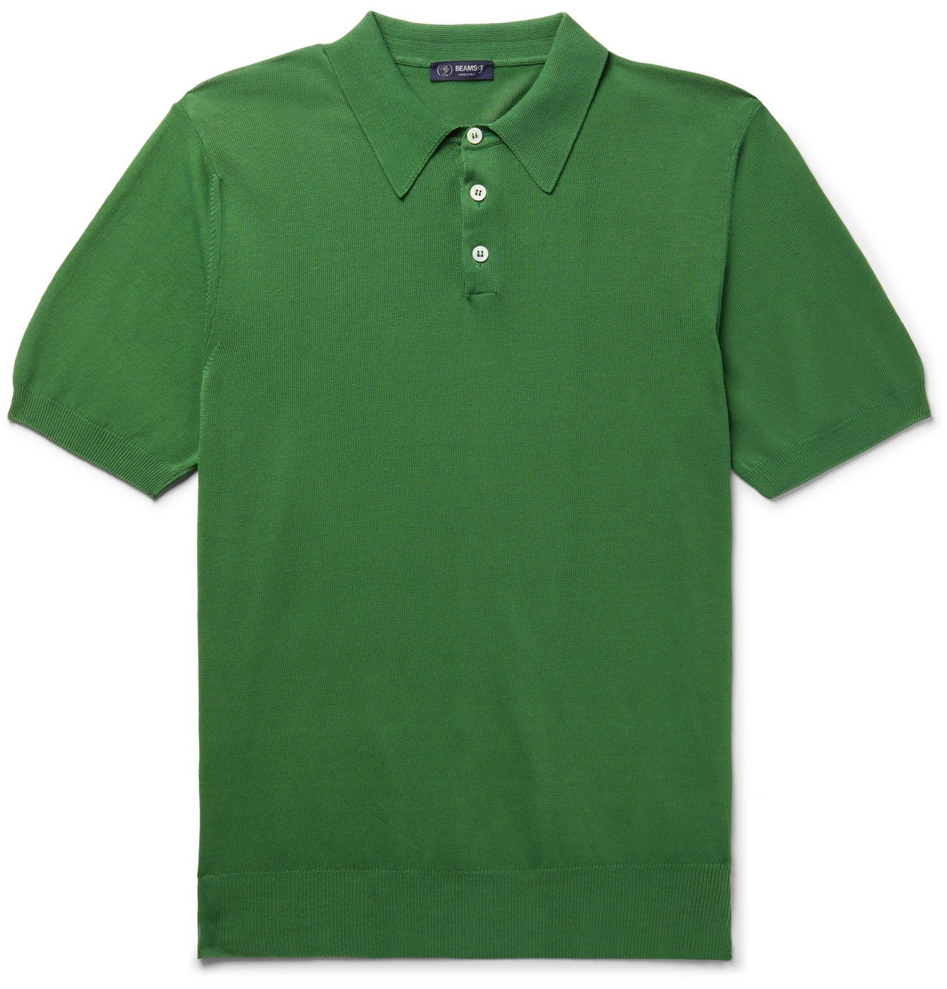 Photo: Beams F - Cotton Polo Shirt - Green