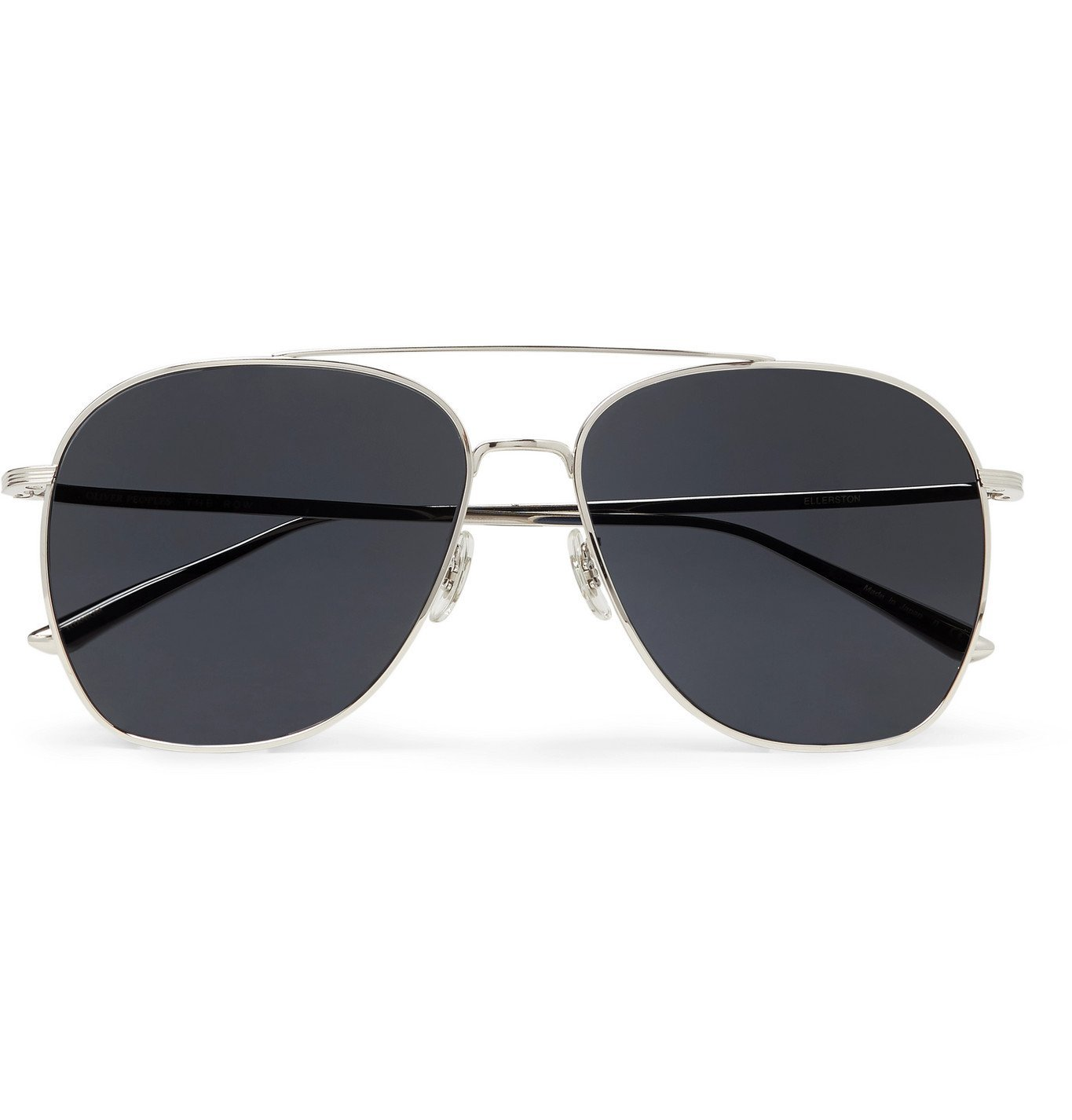 Photo: THE ROW - Oliver Peoples Ellerston Aviator-Style Titanium Sunglasses - Silver