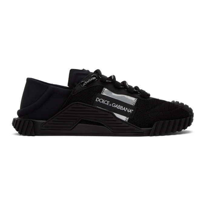 Photo: Dolce and Gabbana Black NS1 Sneakers